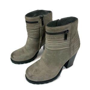 Sam Edelman Gray Fowler Chunky Heel Moto Boots